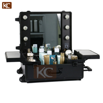 Lighting Rolling Cosmetic Case with mirrorProfessional Makeup Case with lights and Clasp Key Lock  sc 1 st  Shenzhen KONCAI Aluminum Cases Ltd. - Alibaba : key lighting kc - azcodes.com