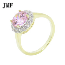 wholesale 925 silver diamond ring new design 14k gold plated jewelry Engagement rings for girls