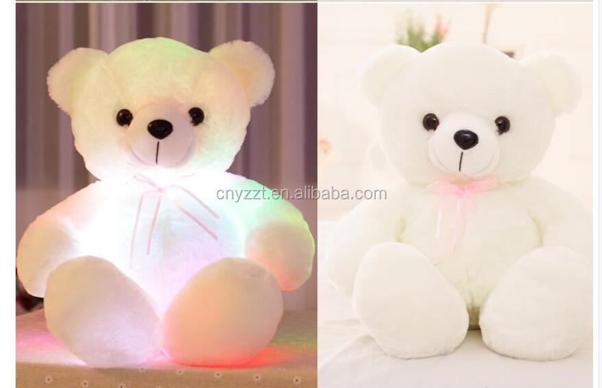 Christmas bear led Plush Toy/Wholesale lovely High Quality bear