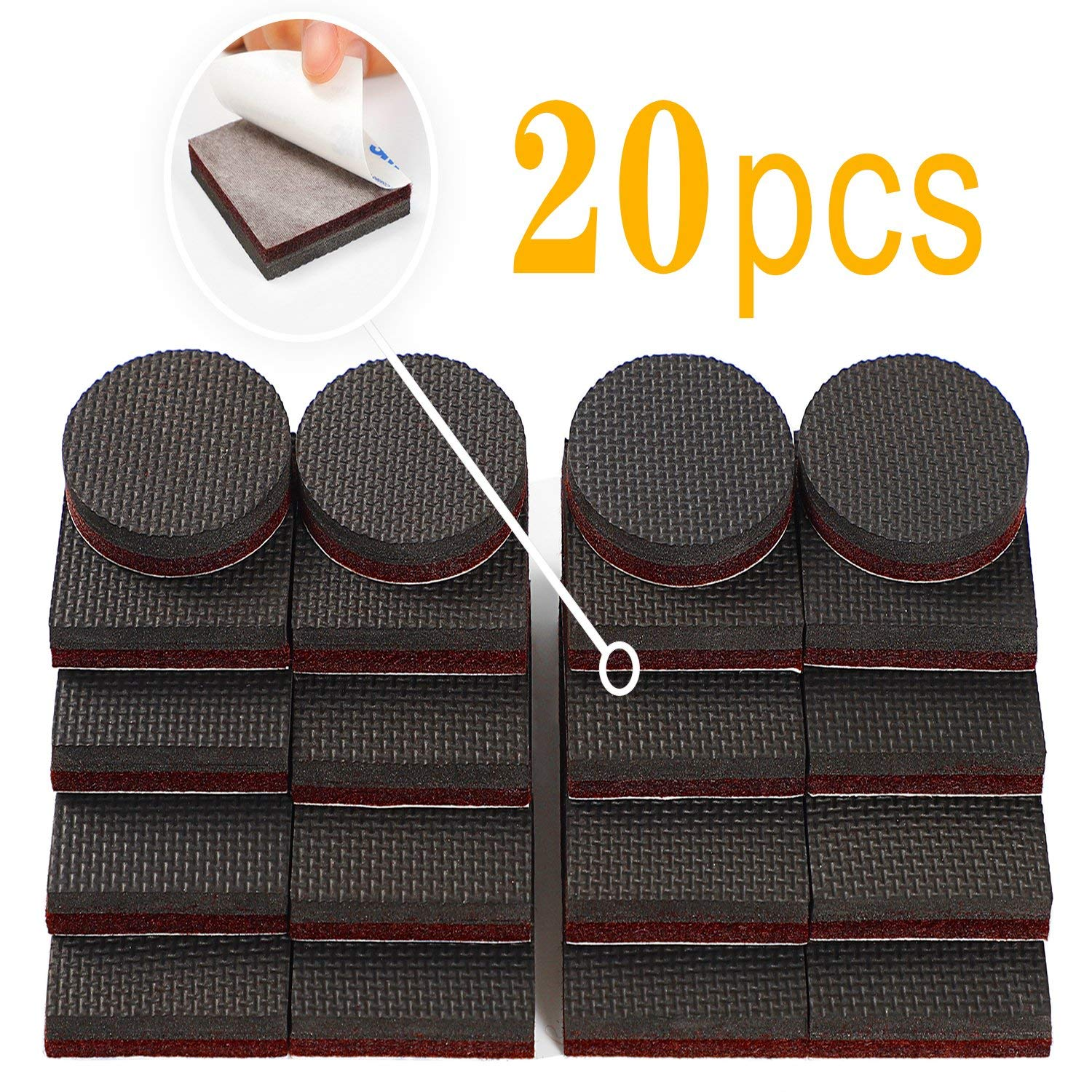Zj 2 Non Slip Furniture Pads Thick Grippers Feet Floor Protectors