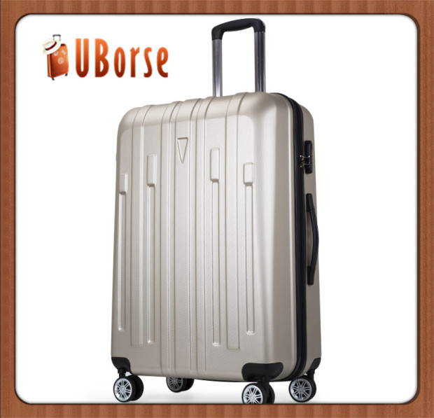 "24"" Blue travel expandable trolley luggage carrier, carry-on luggage suitcase with spinner wheels"