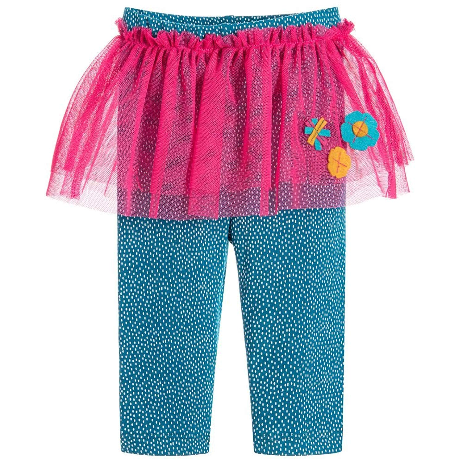 10571bd19 Get Quotations · Kids Skirt-pants Girls Blue Leggings with Pink Tutu Christmas  Leggings 2-8T