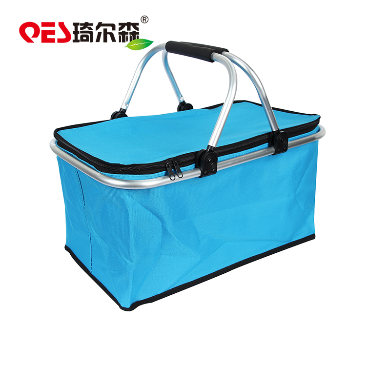 600D Polyester Easy Carry Insulated Collapsible 접는 된 벤치와 Basket