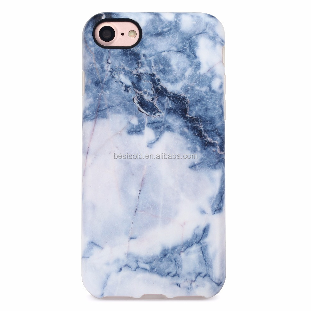 Marble stone painted phone case back cover phone case for iPhone 7