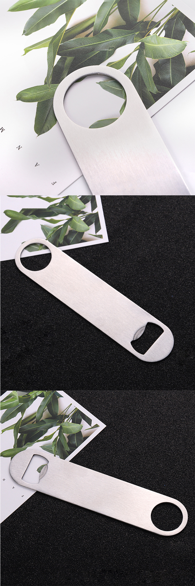 Wholesale laser engraved logo custom metal cheap bottle opener