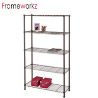 5 Tiers Adjustable Shelving Storage Unit Metal Organizer Wire Rack