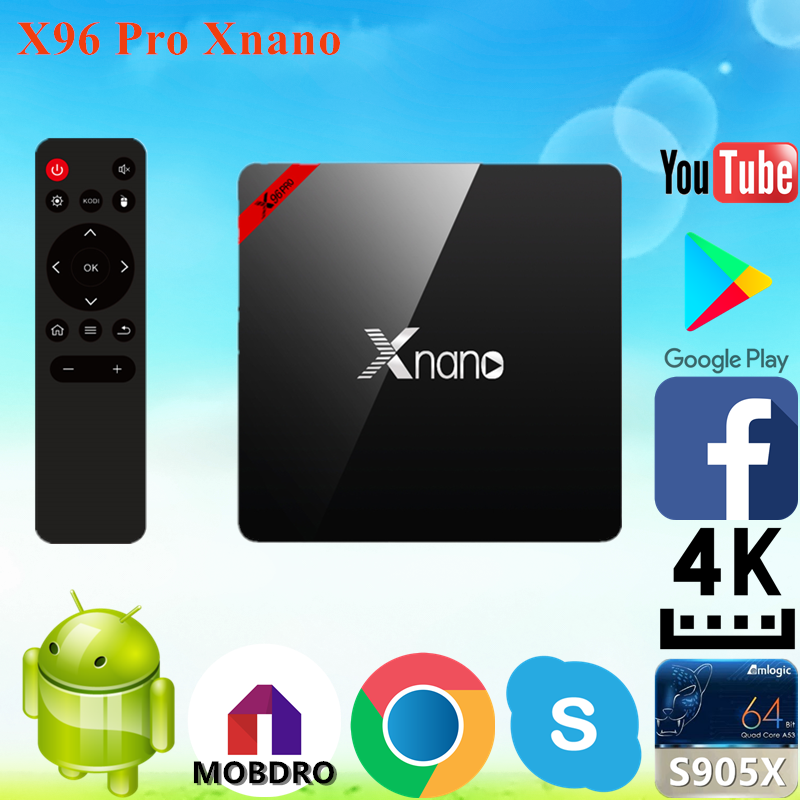 2017 New design X96 Pro Xnano S905X 2g 16g kiii dvb smart tv box with low price Android 6.0 TV Box