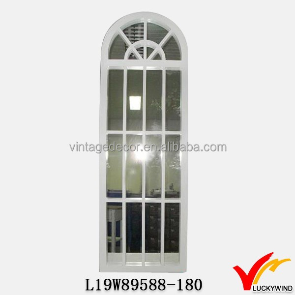 Decoratie muur tuin venster spiegel in een houten frame spiegels product id 1435547276 dutch - Houten tuin decoratie ...