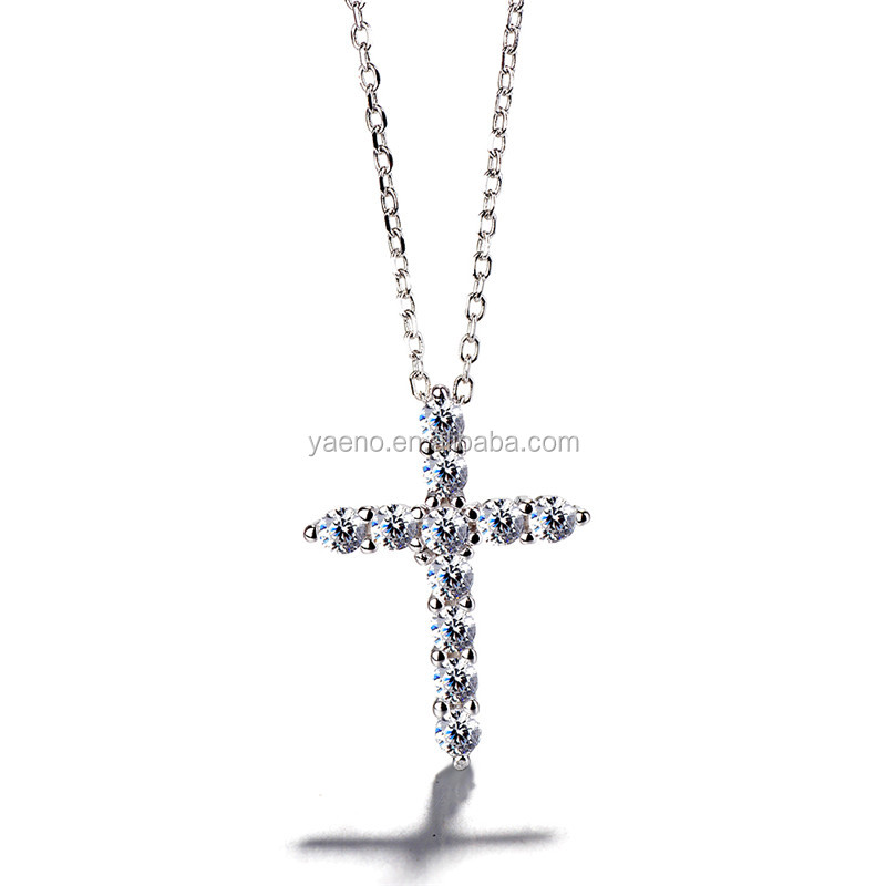 Wholesale New Fashion Sterling Pure Silver Cross Pendant Necklace