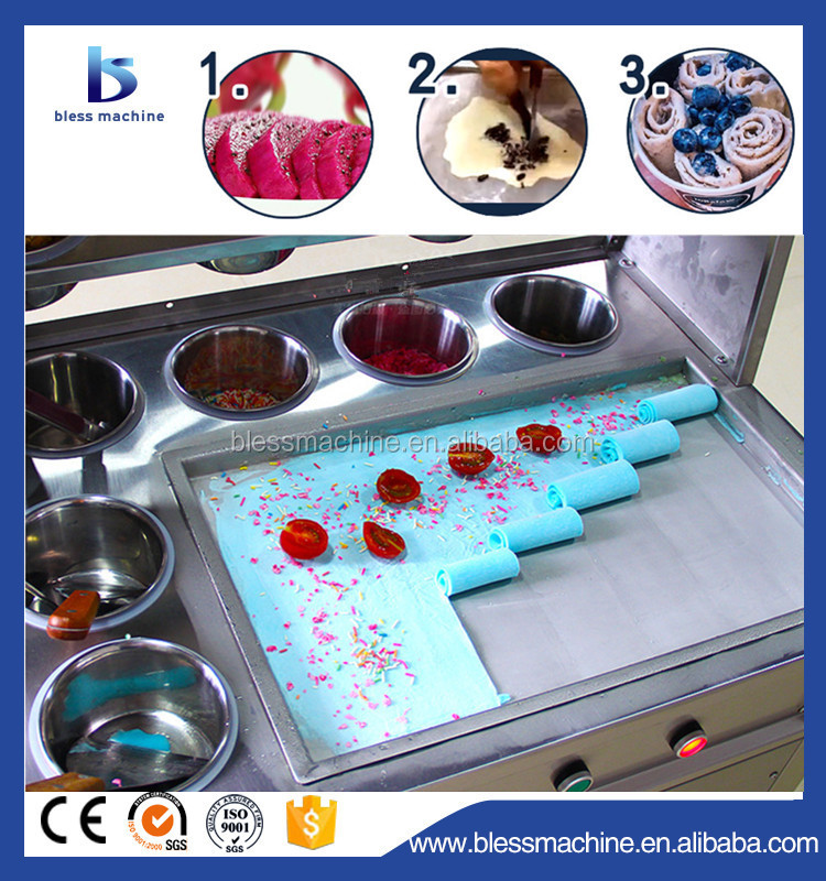 Up to EU Standard long working life rolled ice cream machine