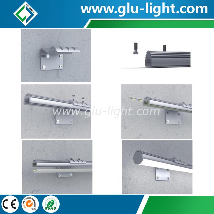 Eloxiertes T5 alu rundes geführtes hängendes Licht, ringsum geführtes Aluminiumprofil