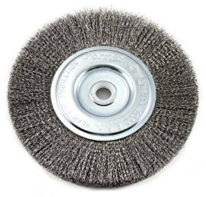 Forney 72747 Wire Bench Wheel Brush, Fine Crimped with 1/2-Inch and 5/8-Inch Arbor, 6-Inch-by-.008-Inch Model: 72747 (Hardware & Tools Store)