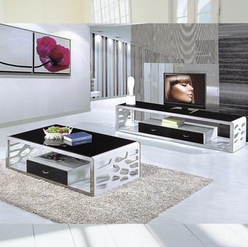 Merveilleux Modern Black White Led Tv Table Design TV839