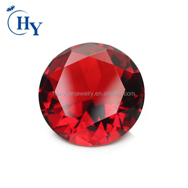 rund Zirkonia Brillantschliff synthetischer Edelstein 5 CZ Rot red 3,0 mm