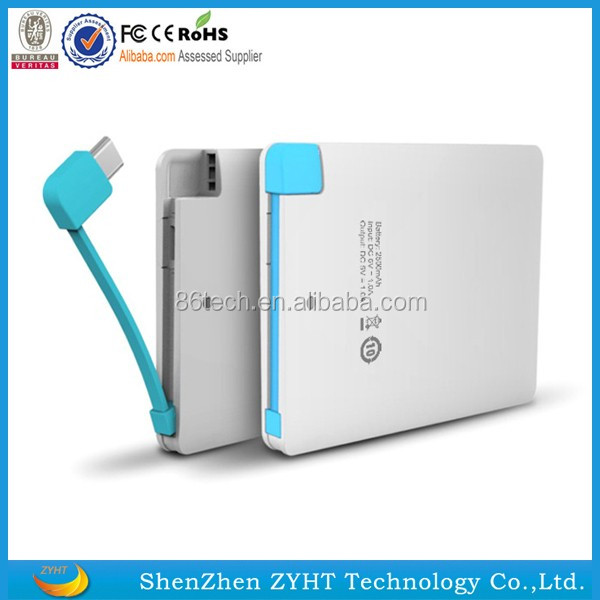 power supply 2600mah portable card power bank from professional Manufacturer