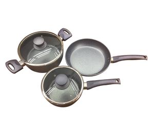 Manufactory Selling Nonstick with Soft handle Easy Cooking European Enamel Coated Cast Iron Cookware