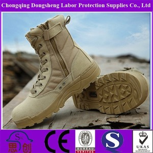 Outdoor Leather Men Brown Military Boots