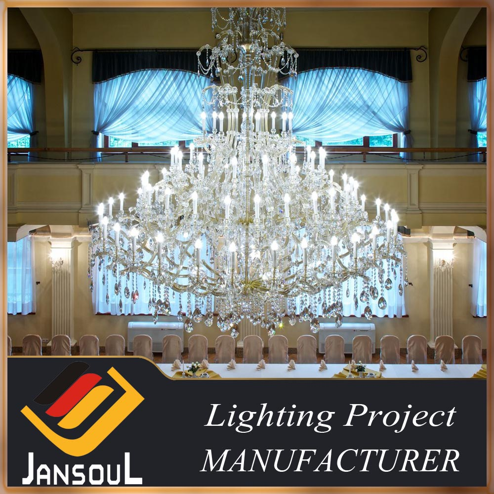 Big luxury modern hotel lobby used led crystal chandelier lighting