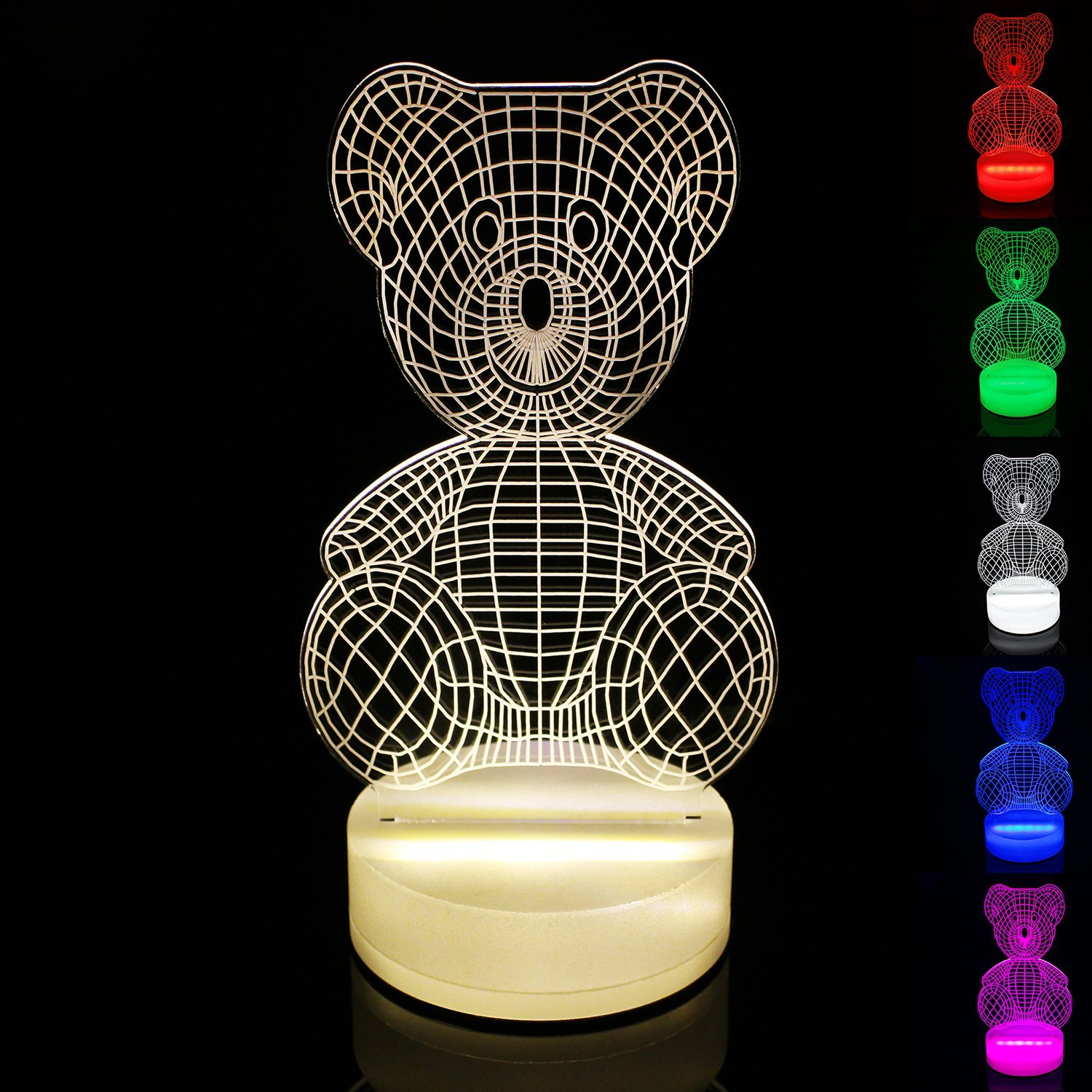 get quotations perfect lighting 3d illusion light led table lamp children night light usb powered light christmas home