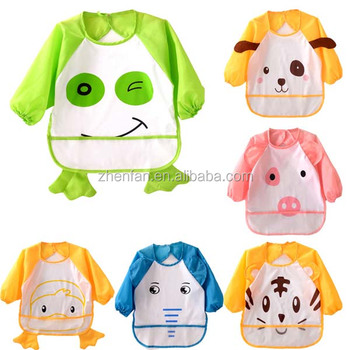New Pattern Animal Toddler Baby Coverall Bib Apron Long Sleeves ... 4cdfd045e