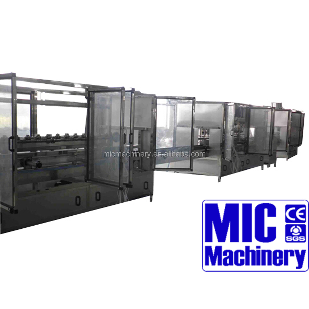 MIC- 4-4- barreled water filling machine line/edible oil filling and capping machine for 2- 5 gallon pet bottle