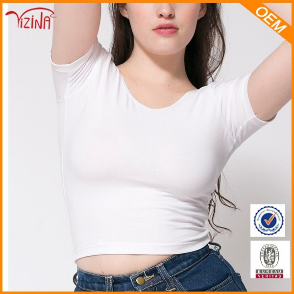 Blank white t shirt below $1/zhejiang wholesale clothing