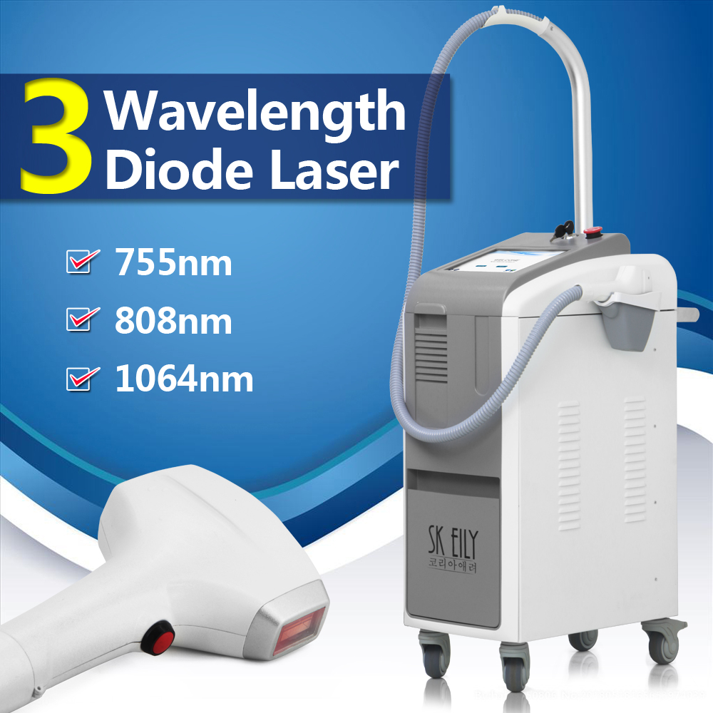 3 wavelength 755 808 1064 diode laser alexandrite hair removal machine