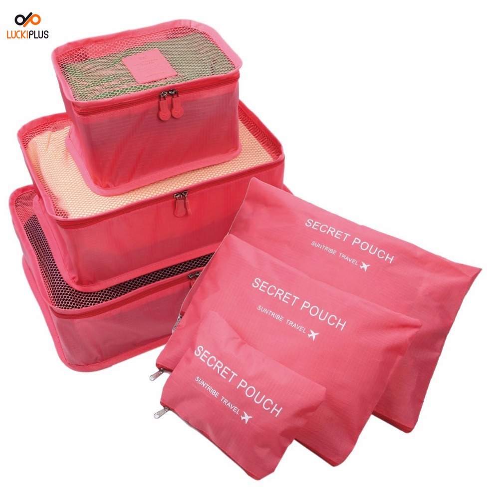 Pink Luggage Travel Organizers... 3 Piece Set Compression Packing Cubes