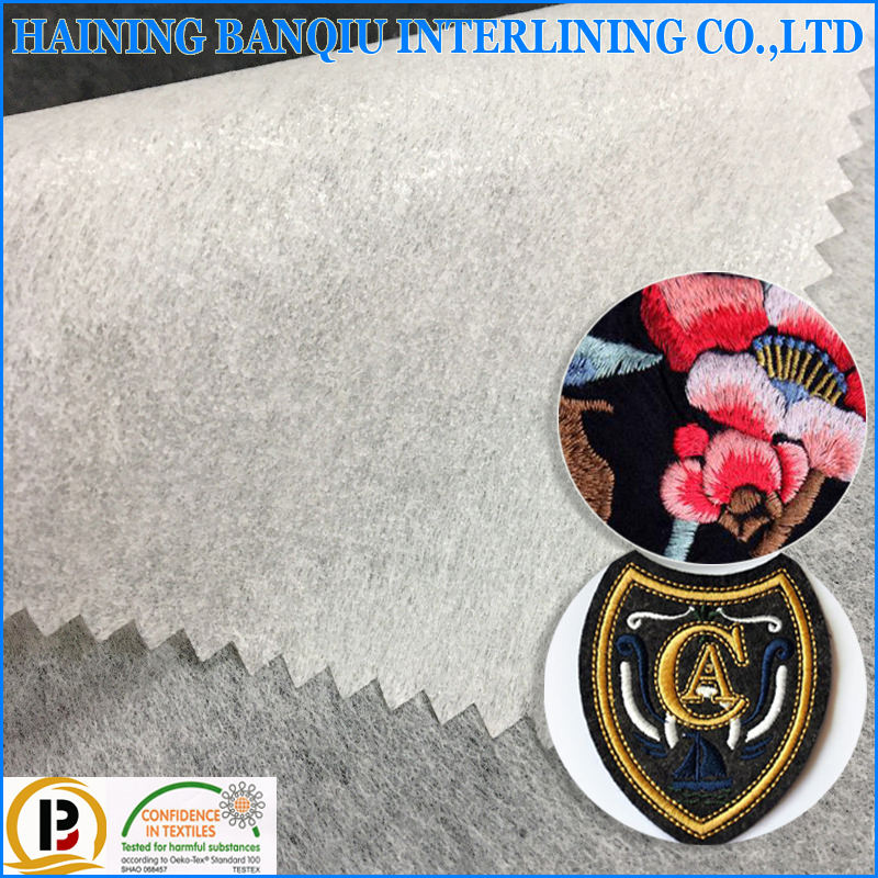 Chinese supplier nonwoven embroidery backing paper fusing embroidery interlining