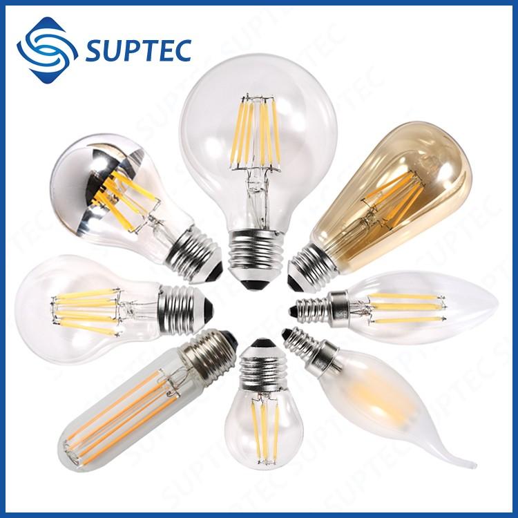 1800k 2200k 2700k E26 E27 B22 E12 E14 Dimmable Led Filament Bulb ...