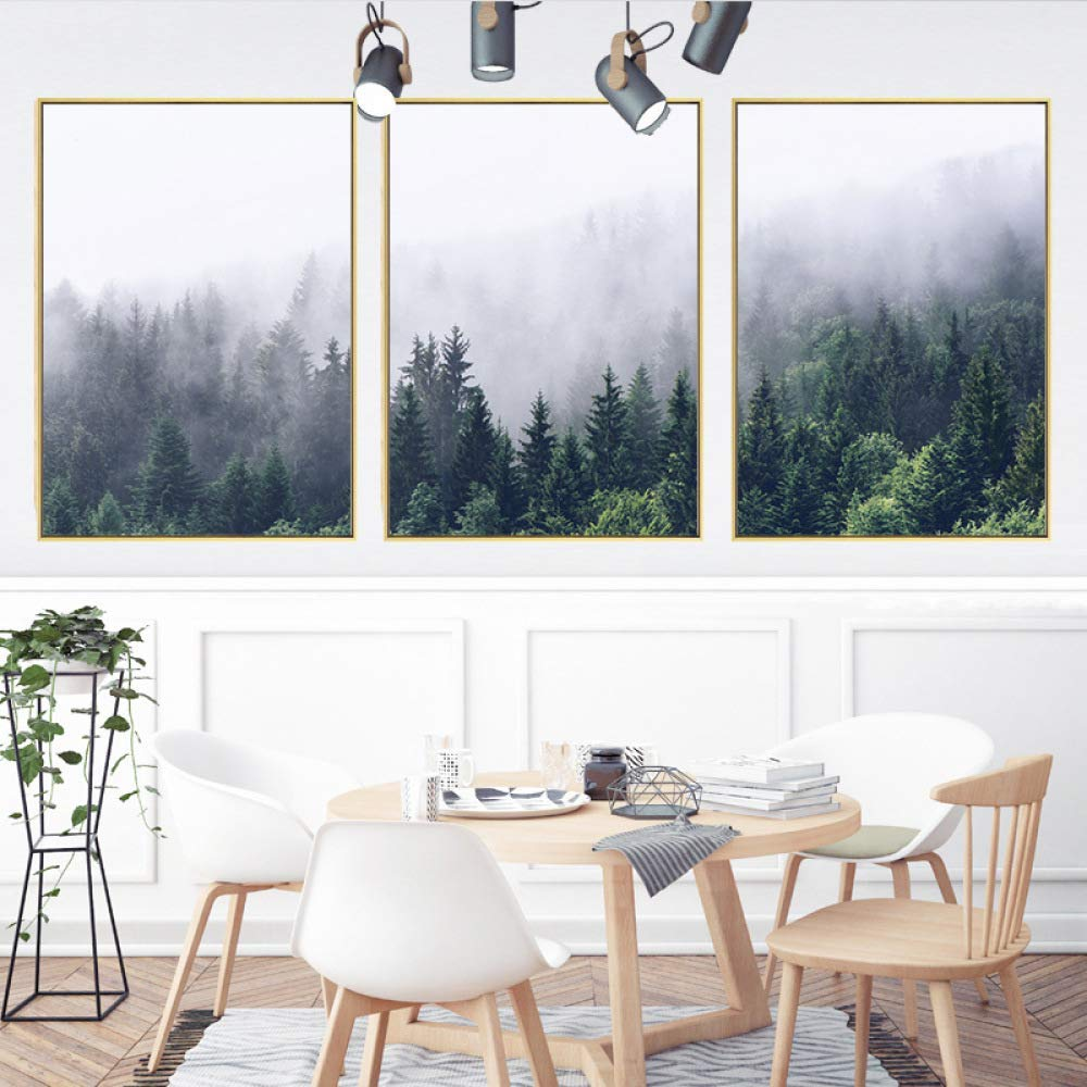 STTS Jane European modern decorative painting, living room hanging painting, small fresh landscape triptych, restaurant mural, landscape decorative painting, custom