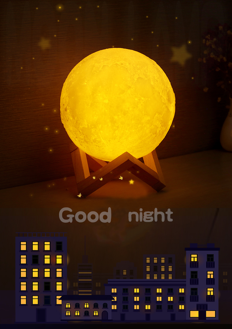 Colorful Luna Cool With moon Led Light Table 3d Modern Lights Lights Touch Home Night Buy Moon Printing Decor Lamp Wireless uJ3KFc1Tl
