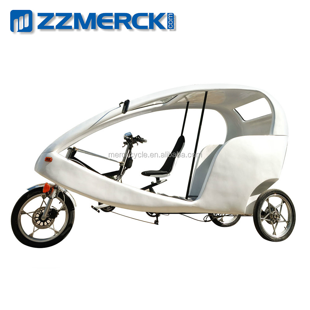 Passenger Three Wheel Bicycle with Roof