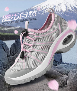 2018 Spring New Outdoor Breathable Shoes Casual Wear Air Cushion Increased Mesh Shoes Summer Women Hiking Shoes W2018-36