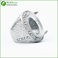 Wholesale Indonesia men titanium ring silver rings for gemstone