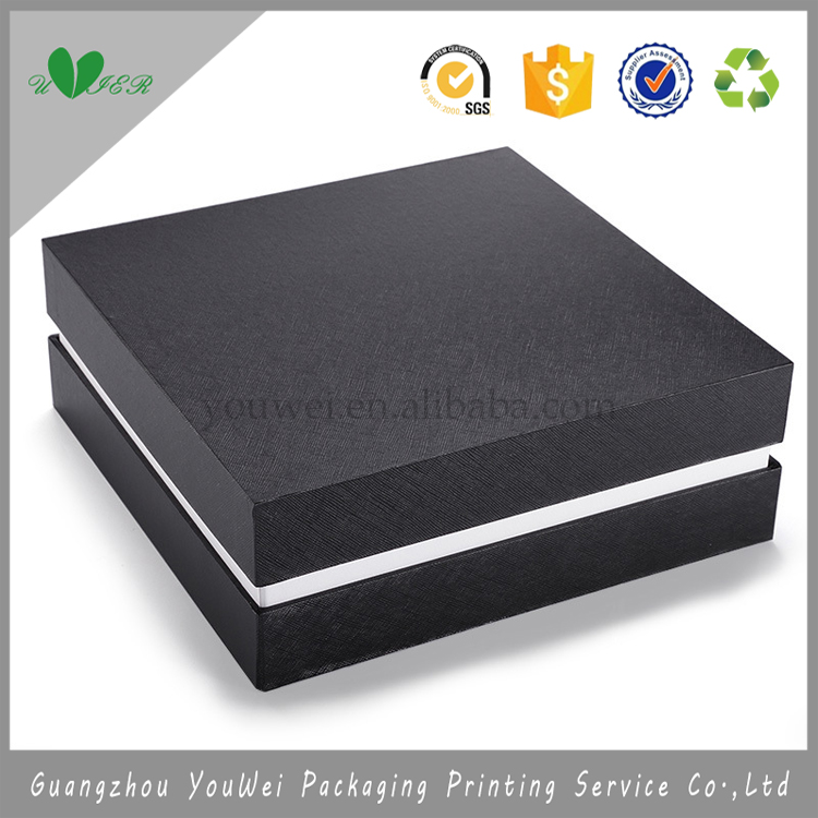 wholesale white EVA insert custom logo gift box packaging with lid/guangzhou jewelry box manufacturers china