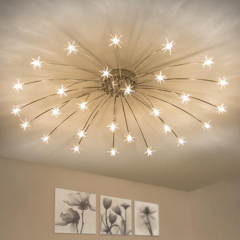 Moderno Nordic Creativo Argento per bambini arredamento camera da letto illuminazione a sospensione LED stelle luci placcatura lampada da soffitto