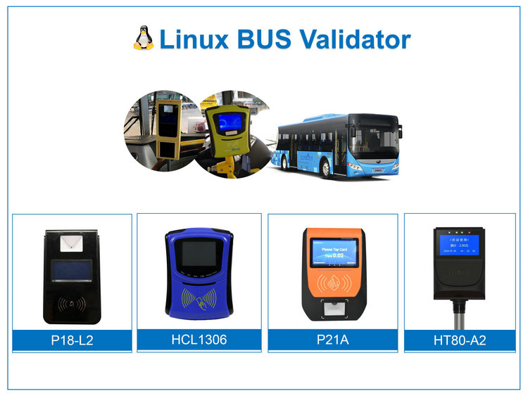 Supports All Smart Cards & GPS Bus Ticketing Payment Terminal Bus Validator P18-L2