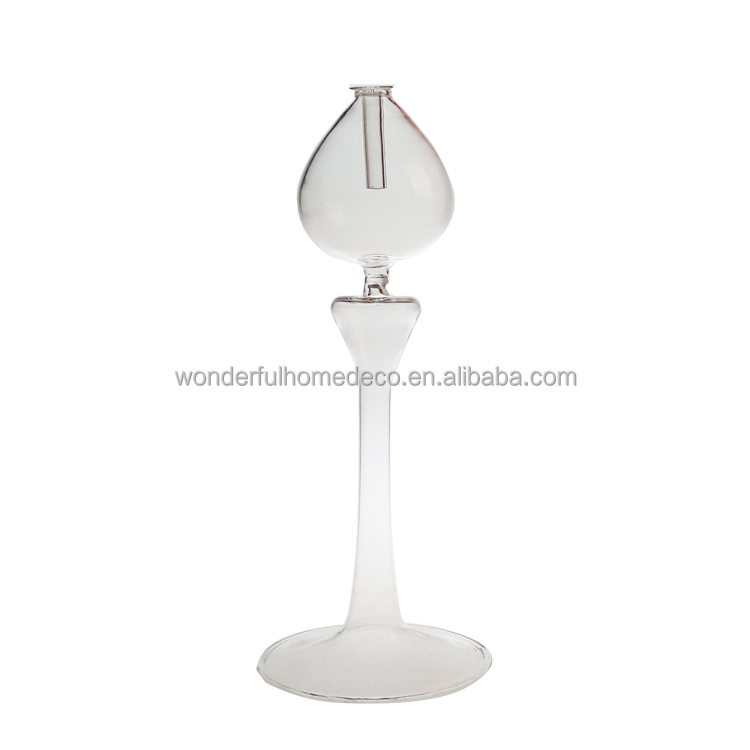 Indoor Hand Blown Ball Shaped Glass Oil Lamps