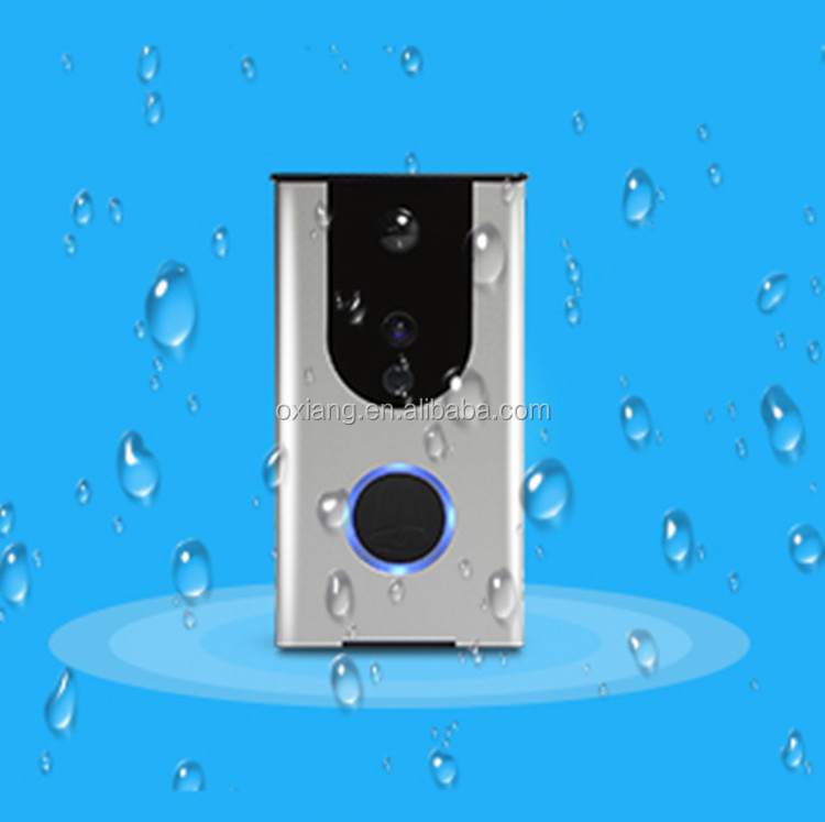 CE/FCC approved IP65 waterproof home security wireless doorbell camera with Built-in battery wifi video door phone