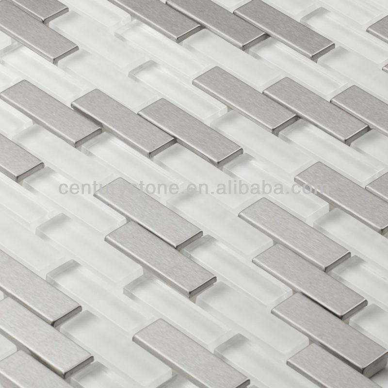 Aria Serie,Acero Metal Azulejo De Mosaico De Vidrio Para Baño,Cocina ...