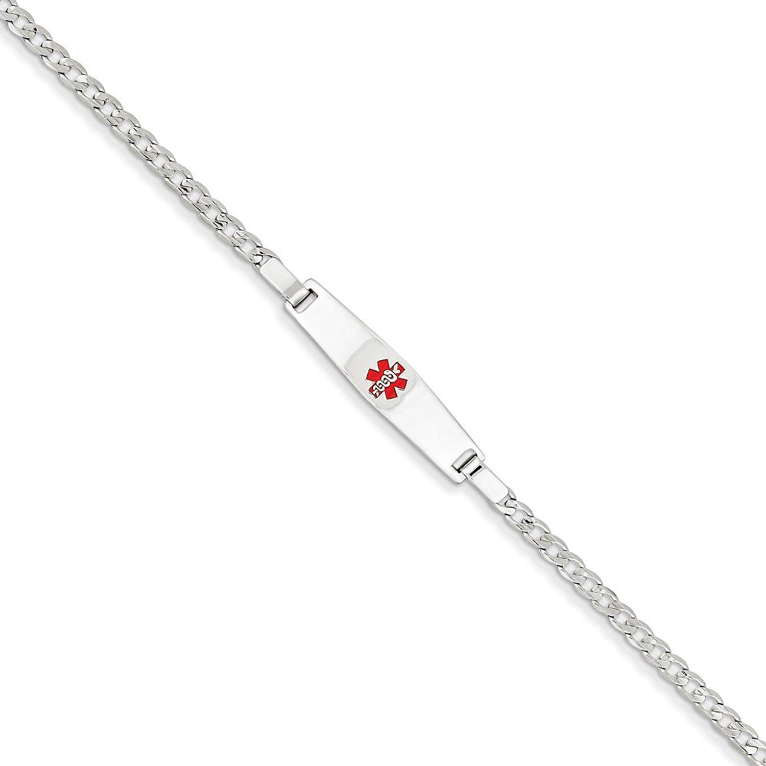 Top 10 Jewelry Gift 14k White Gold Medical Jewelry Children's Bracelet