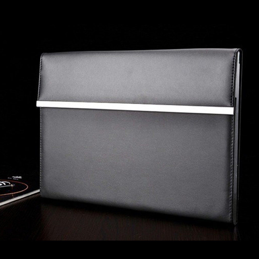 Luxury Black Leather OEM Design A4 Document File Folder