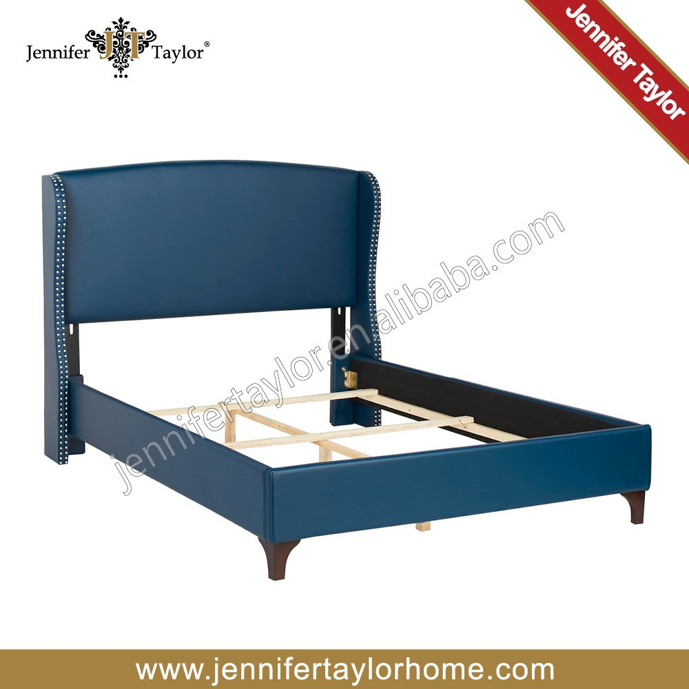 New design modern pu upholstered queen beds from China
