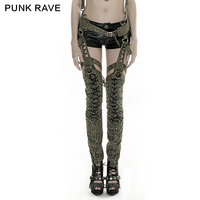 K-253 2016 Newest Design Punk Green Military Uniform Style Sexy Rivets Women Overalls