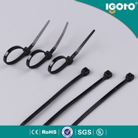 rohs customautomotive cable ties self-locking nylon soft cable and bead ties zip tie sgs ce