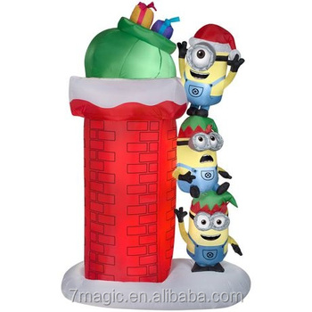 Minions Christmas.Hop Minions Chimney Scene Christmas Airblown Inflatable Buy Large Christmas Inflatables Christmas Inflatable Christmas Decoration Inflatable Product