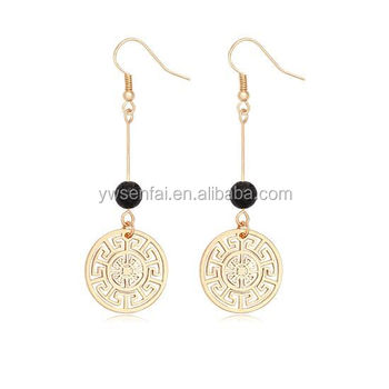 Latest Fancy Gold Coin And Lotus Flower Earrings Design For Girls Woman Buy Gold Coin Earringsgold Earrings Designs For Girlsearrings Woman