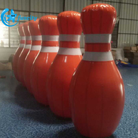 Popular sport games 10 inflatable human bowling ball/giant inflatable bowling pins for kids