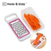 Hand Zester Set With Container Mini Cheese Grater Vegetable Slicer Shredder